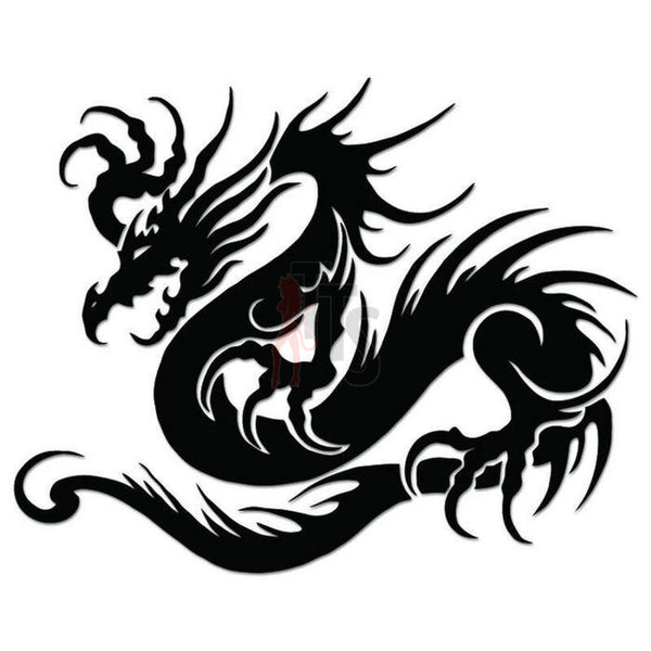 Dragon Tribal Art Decal Sticker Style 6