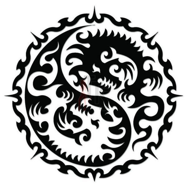 Dragon Tribal Art Decal Sticker Style 7