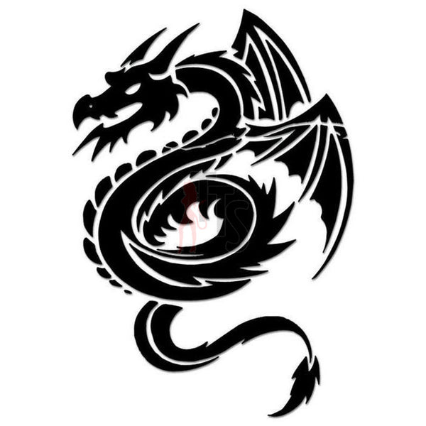 Dragon Tribal Art Decal Sticker Style 8