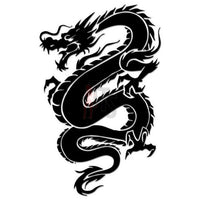 Dragon Tribal Art Decal Sticker Style 9