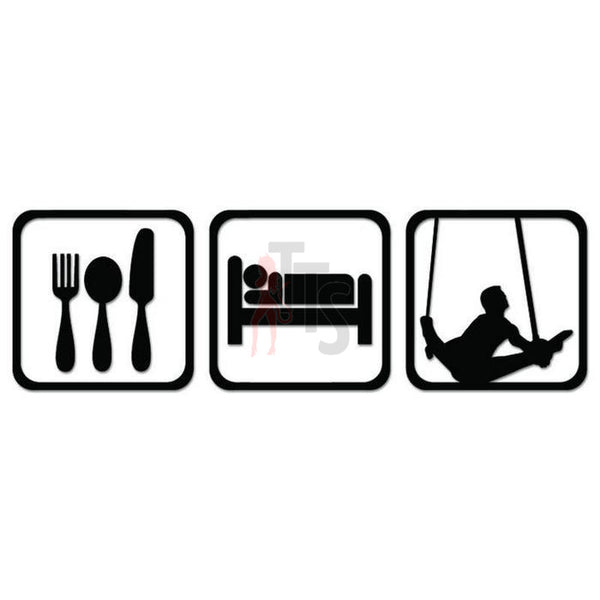 Men's Rings Olympics Eat Sleep Daily Activities Decal Sticker