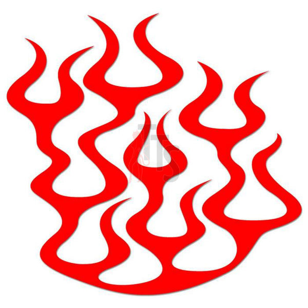 Flame Fire Tribal Art Decal Sticker Style 1