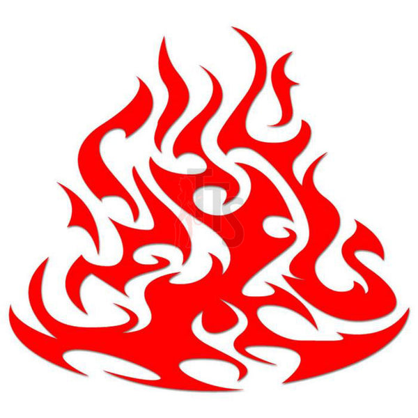 Flame Fire Tribal Art Decal Sticker Style 4