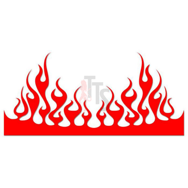 Flame Fire Tribal Art Decal Sticker Style 8