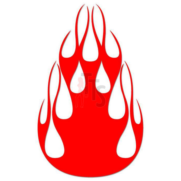 Flame Fire Tribal Art Decal Sticker Style 38