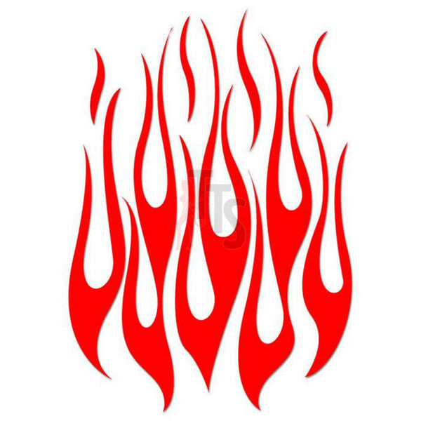 Flame Fire Tribal Art Decal Sticker Style 40