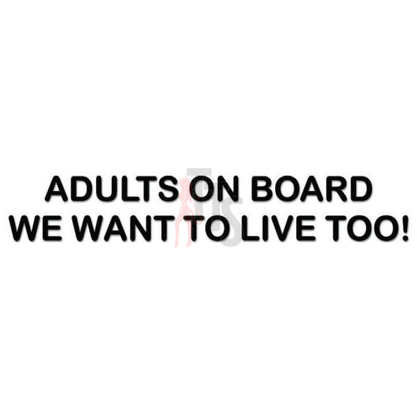 Adults On Board Decal Sticker