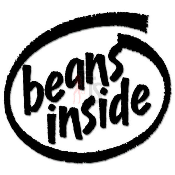 Beans Inside Decal Sticker