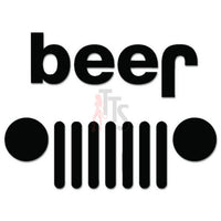 Beer Jeep Funny Decal Sticker
