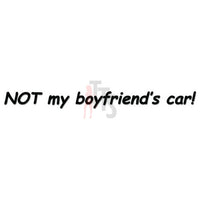 Not Boyfriend's Car Decal Sticker