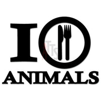I Eat Animals Funny Decal Sticker