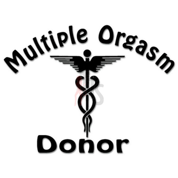 Multiple Orgasm Donor Decal Sticker