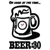 Time For Beer Funny Decal Sticker