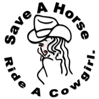 Ride Cowgirl Horse Decal Sticker