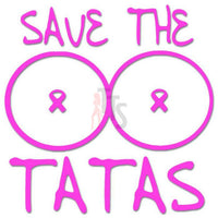 Save Tatas Breast Cancer Decal Sticker
