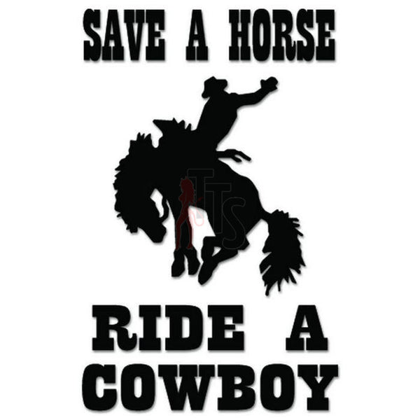 Ride Cowboy Horse Decal Sticker