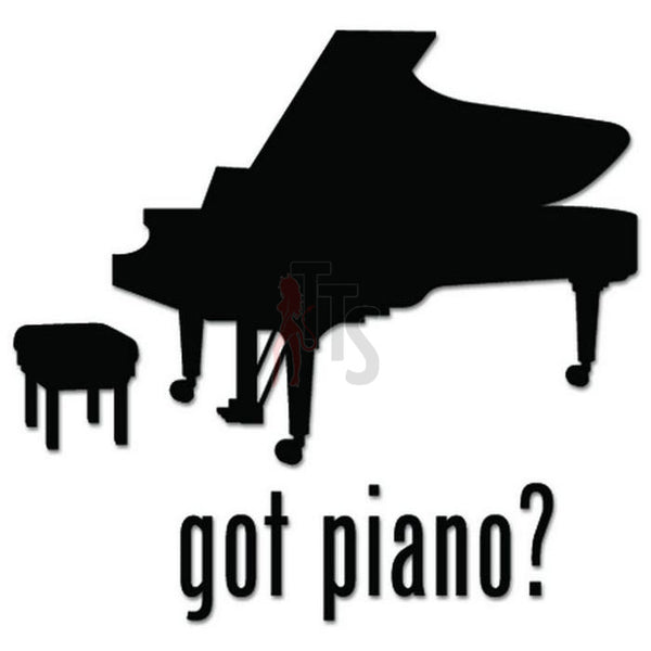 Got Piano Music Decal Sticker