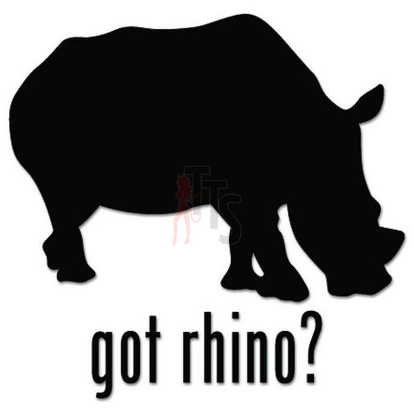Got Rhino Zoo Safari Decal Sticker