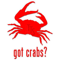Got Crabs Seafood Decal Sticker