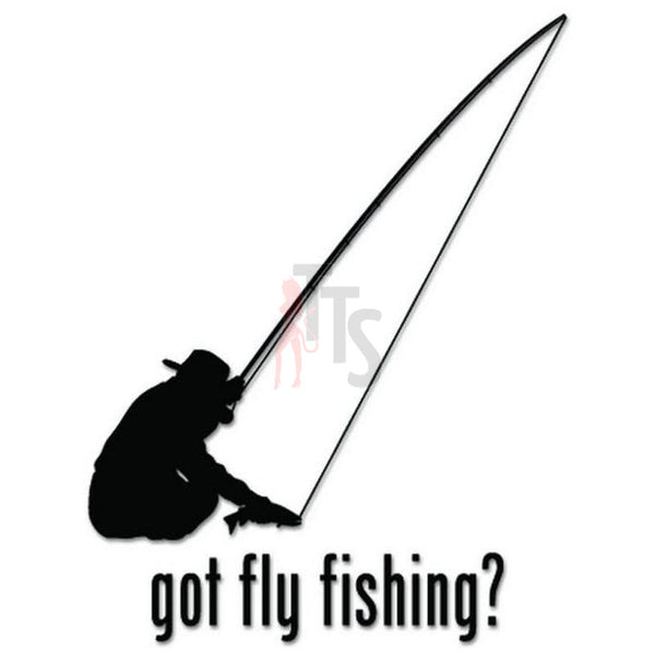 Got Fly Fishing Fish Decal Sticker