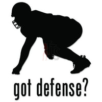 Got Defense Football Decal Sticker
