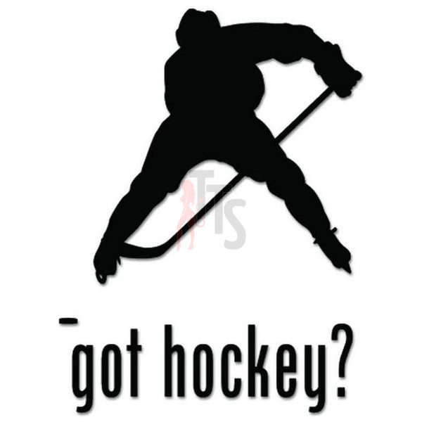 Got Hockey Ice Sport Decal Sticker Style 1