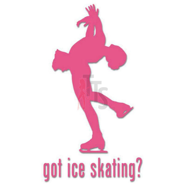 Got Ice Skating Women Decal Sticker