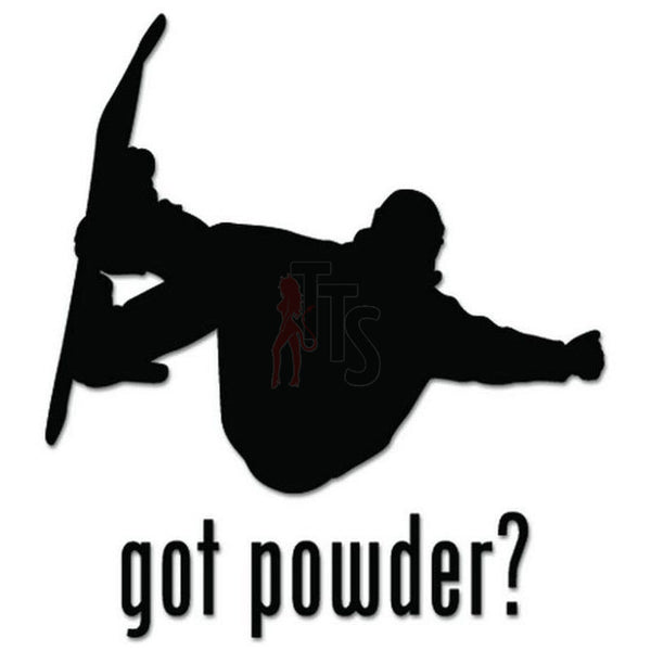 Got Powder Snowboarding Decal Sticker