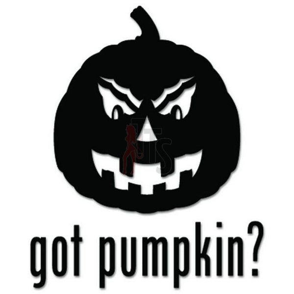 Got Pumpkin Halloween Decal Sticker