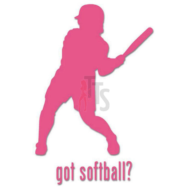 Got Softball Women Decal Sticker Style 2