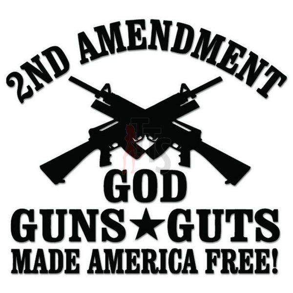 2nd Amendment Guns Guts Decal Sticker