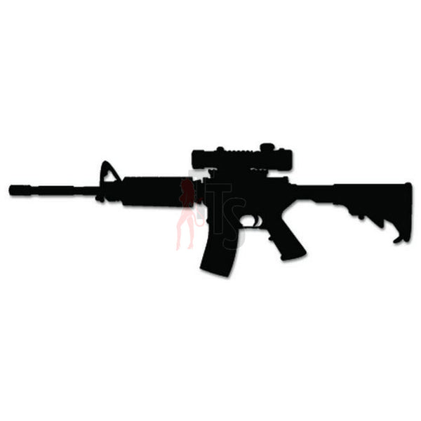 AR-15 Assault Rifle Scope Decal Sticker