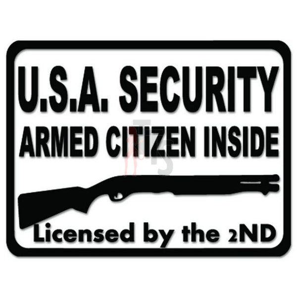 Armed Citizen Shotgun 2nd Decal Sticker