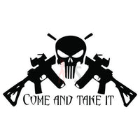 Come Take It Rifle Skull Molon Labe Decal Sticker