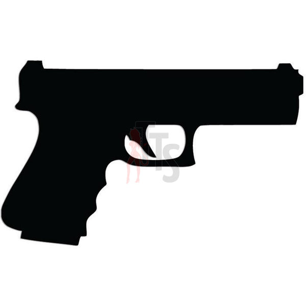 Gun Pistol 9mm Decal Sticker
