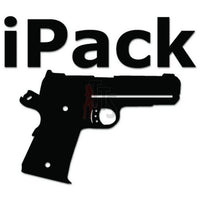 iPack  Gun Pistol Decal Sticker