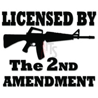 2nd Amendment Assault Rifle Decal Sticker