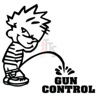 Piss On Pee Gun Control Decal Sticker