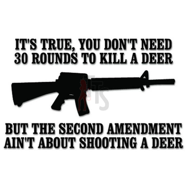 2nd Amendment Assault Rifle Deer Decal Sticker