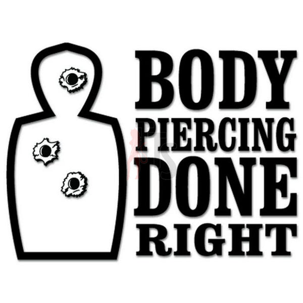Body Piercing Gun Target Decal Sticker