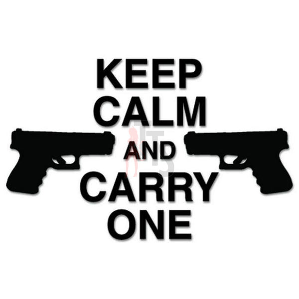 Keep Calm Gun Pistol Decal Sticker