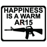 Happiness AR-15 Assault Rifle Decal Sticker