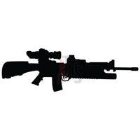 Assault Rifle Gun Decal Sticker