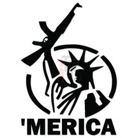 Merica Statue of Liberty Decal Sticker