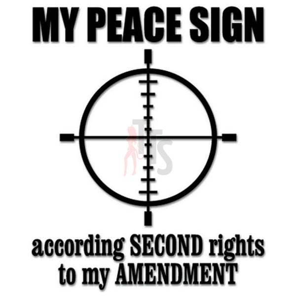 Peace Sign Crosshair 2nd Amendment Decal Sticker