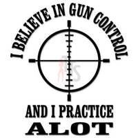 Gun Control Crosshair Decal Sticker