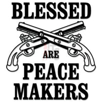 Peace Makers Crossed Pistols Decal Sticker