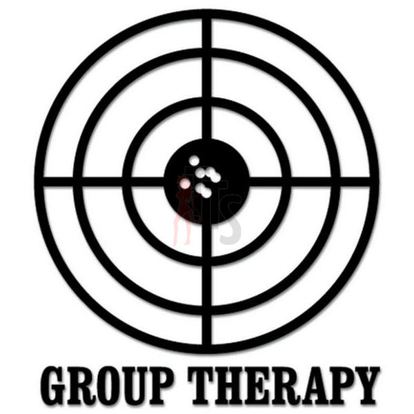Group Therapy Shooting Target Decal Sticker