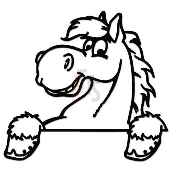 Horse on Fence Decal Sticker