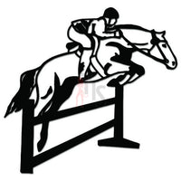 Equestrian Horse Jumping Decal Sticker